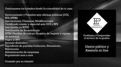 gestoría, asesoría y servicios administrativos