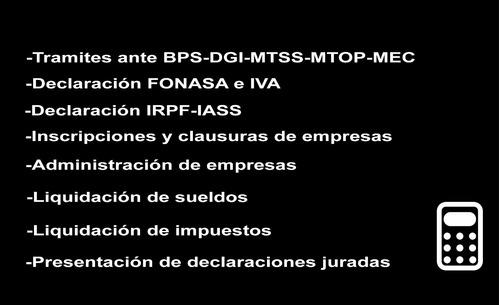 gestoria tramites en general rupe bps-dgi-dgr-mtop-imm