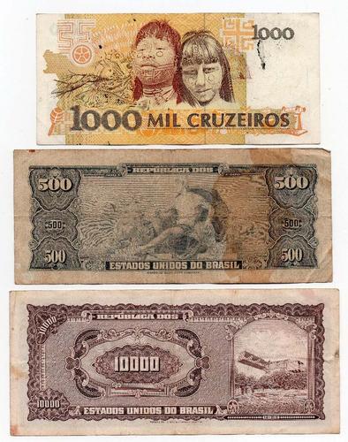 gh billetes brasil lote x 3 distintos, # 43