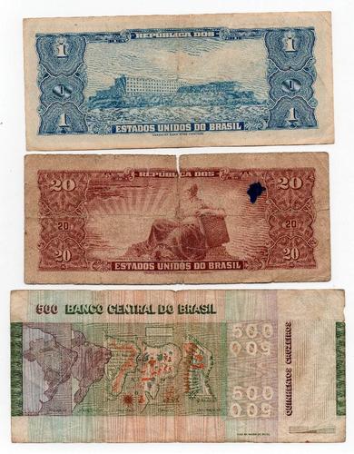 gh billetes brasil lote x 3 distintos, # 44