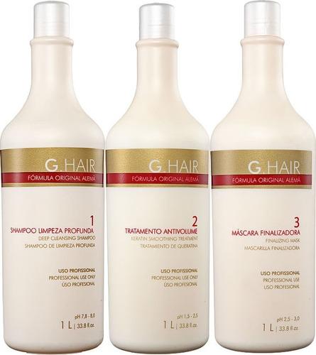 ghair escova progressiva fórmula original g hair alemã inoar