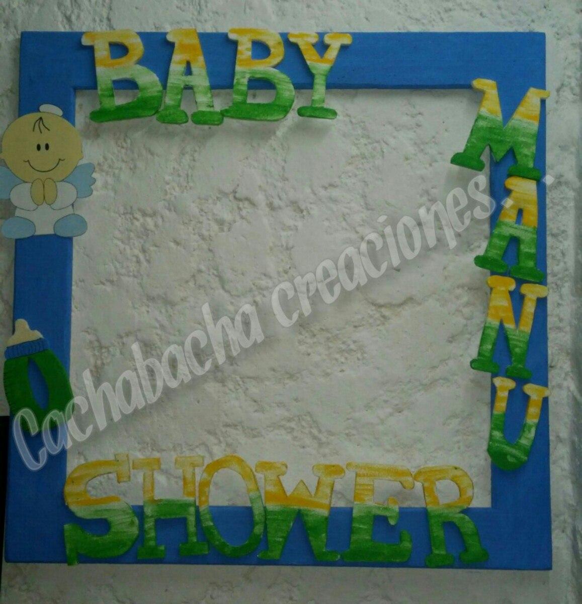 Gigantografia Cigüeña Baby Shower Marcó Para Foto 45000 En