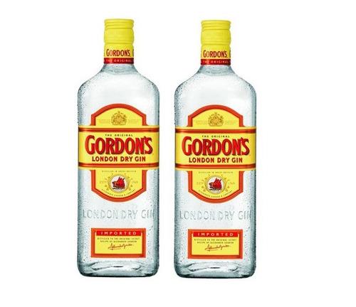 gin gordons 1lt pack x2