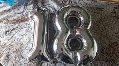 globos 14  pulgadas numeros letra para aire americanos !!!!