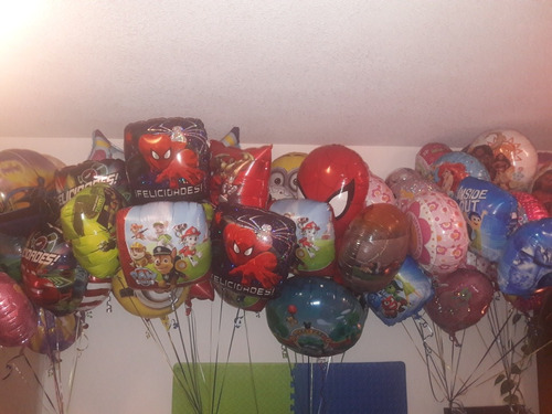 globos con helio!!metalizados de personajes de disney!!!!!!!