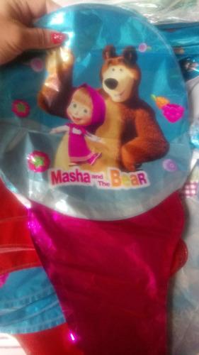 globos masha y oso kit x 5globos