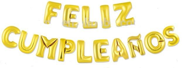 Globos Metalizados Feliz Cumpleaños 16 Pulgadas 15 Letras