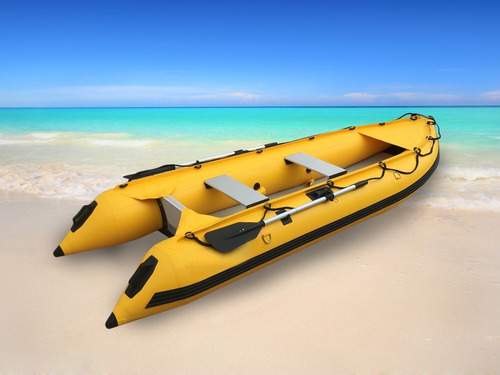 goethe kayak gomon inflable 370 2 pers. espejo popa amarillo