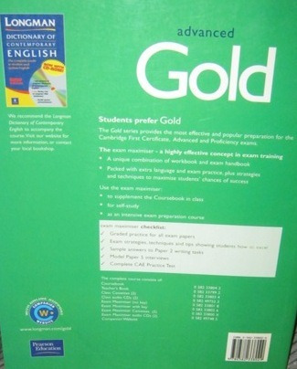 gold advanced exam maximiser with key new book on offer!