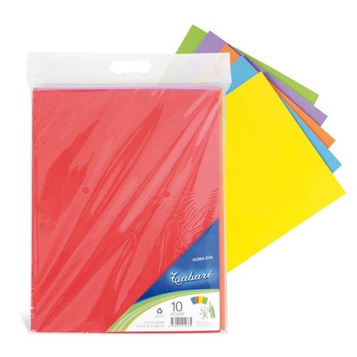 goma eva de colores tabaré a4 10 hojas - mosca