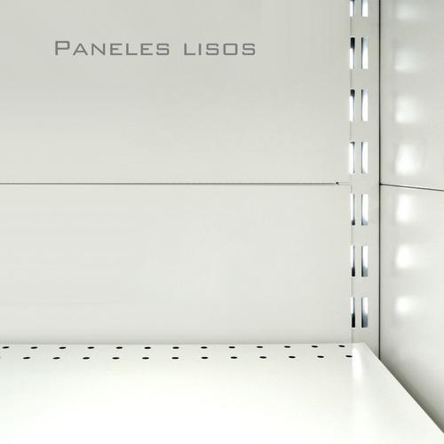 góndola contra pared, estantería, exponedor
