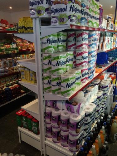 gondolas para supermercado doble faz 1.30 mt alto