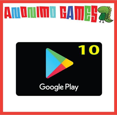 google play tarjeta prepaga valor 10 usd / usa