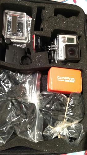 gopro hero 3black + con accesorios.