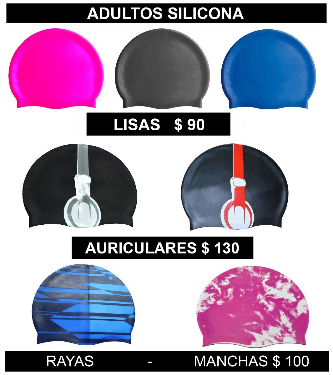 57fc2c35 gorras de natacion. para niños y adultos. silicona y lycra. Cargando zoom.