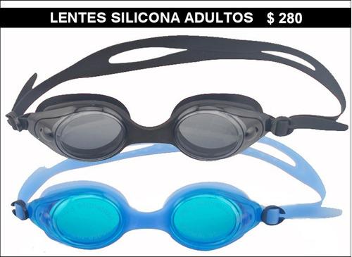 gorras de natacion. para niños y adultos. silicona y lycra.