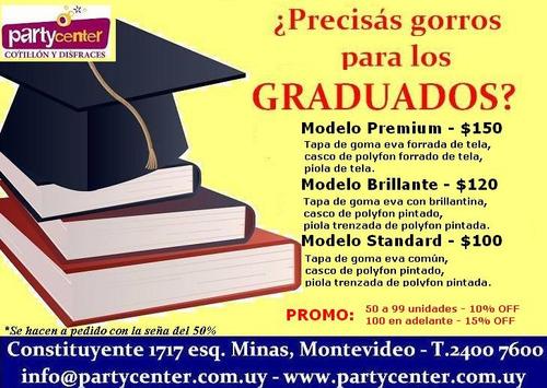 gorro birrete de graduacion (promo)
