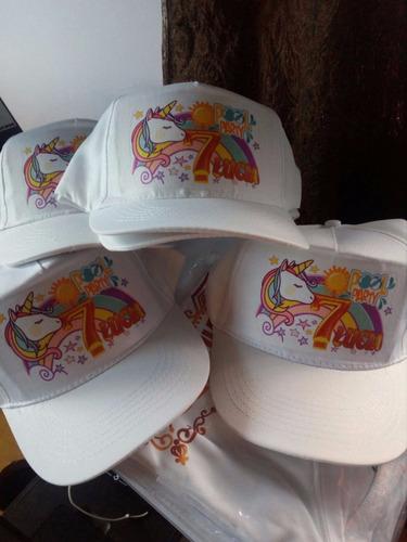 gorro blanco visera estampado - sublimación - personalizados