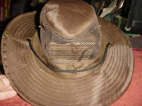 gorro capelina sombrero - cazador - color liso marron