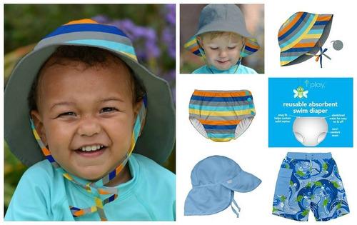 gorro con cubre nuca filtro uv iplay sombrero para bebe