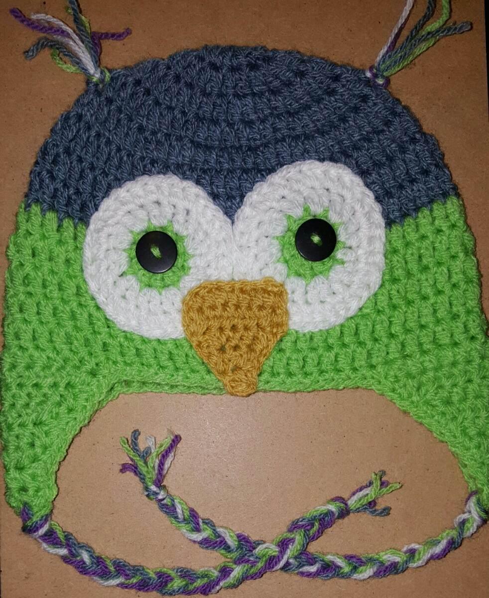 Gorro De Búho En Crochet Para Niño De 1-3 Años. 49-51 Cm - $ 240,00 ...