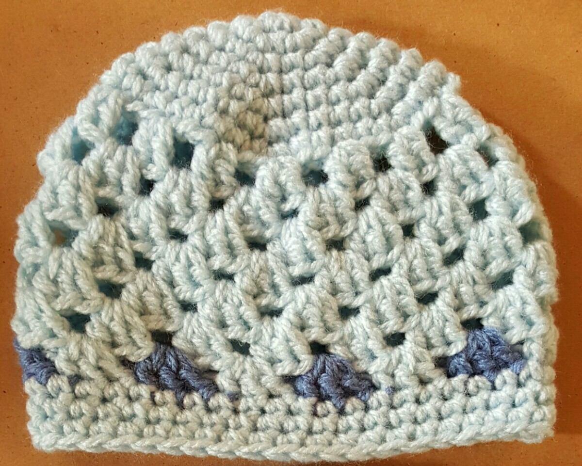 Gorro En Crochet Bebé Recién Nacido. Contorno Cabeza 35 Cm - $ 180 ...