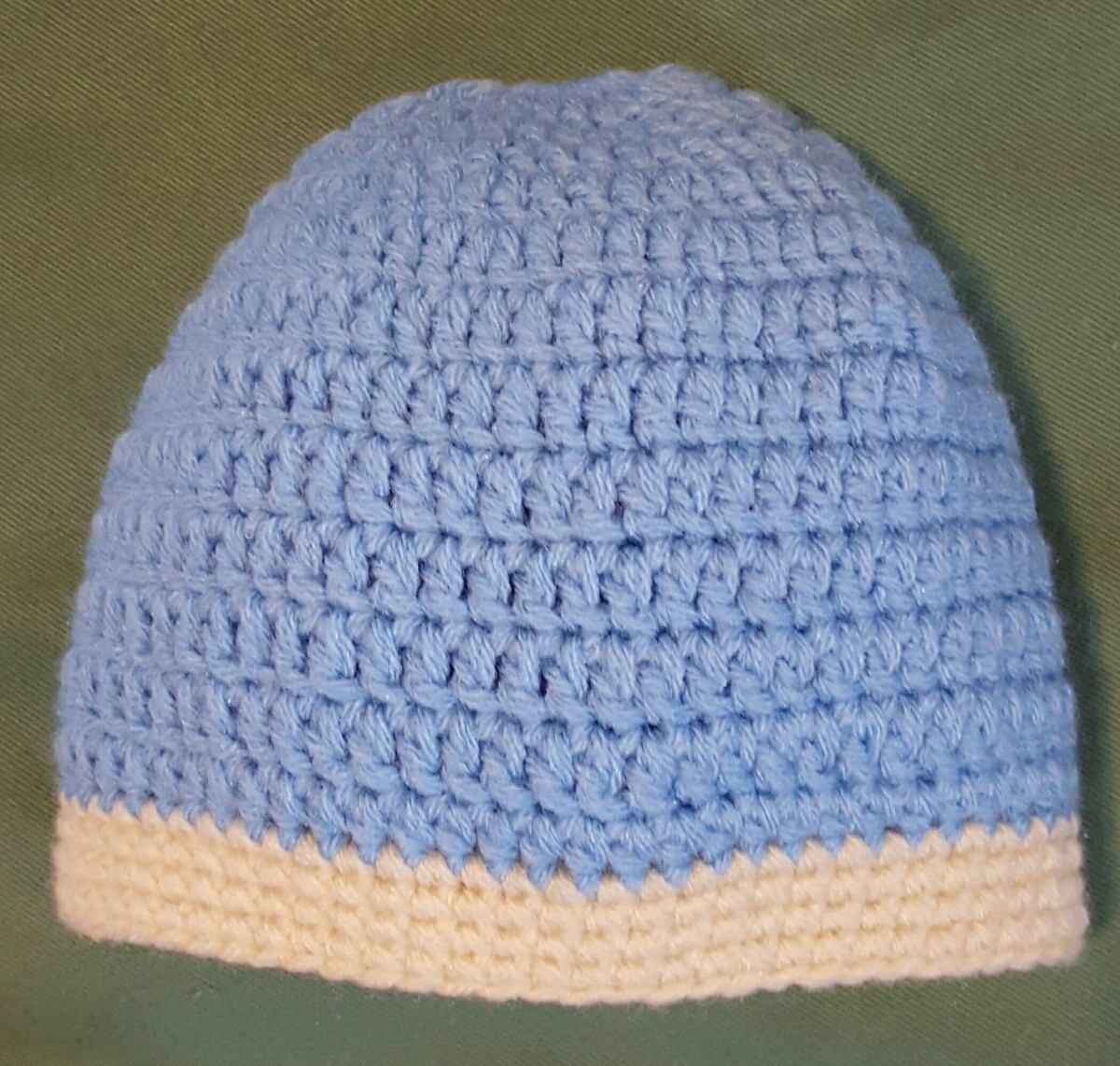 Gorro En Crochet Para Bebé 0 A 3 Meses - $ 150,00 en Mercado Libre