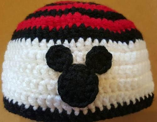 c77358633f187 Gorro En Crochet Para Bebé Mickey. Contorno De Cabeza 50 Cm -   230 ...