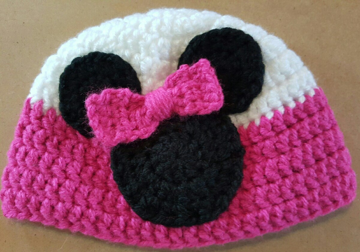 25491c031a1ac Gorro En Crochet Para Bebé Minnie. Contorno Cabeza  39-41 Cm -   200 ...