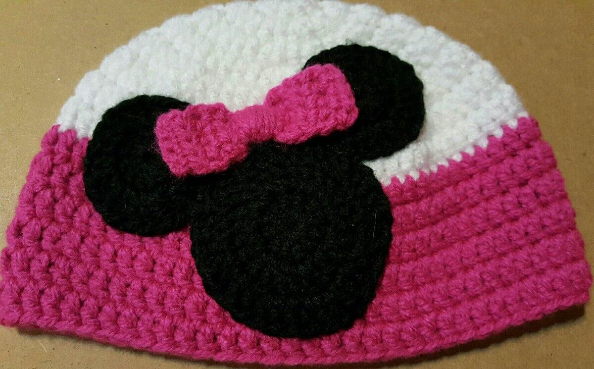 Gorro en crochet para bebé minnie contorno cabeza cargando zoom jpg  1200x745 Contorno gorros de crochet 46b5c5f778d