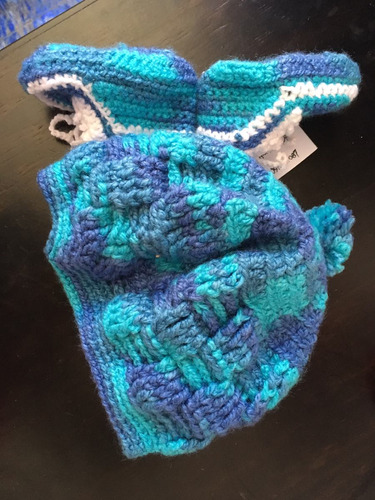 gorro escarpines conjunto crochet bebé varón