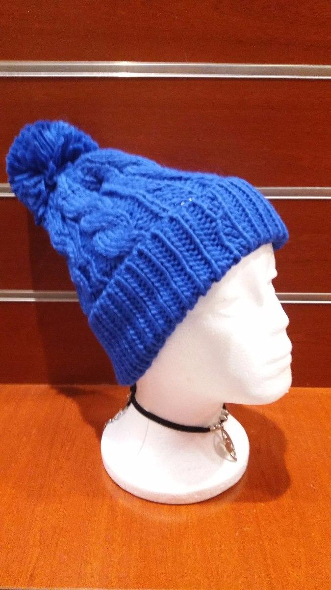 Gorro Lana Sintética Mujer Invierno Abrigo Frío Azul -   120 9c4cae45197