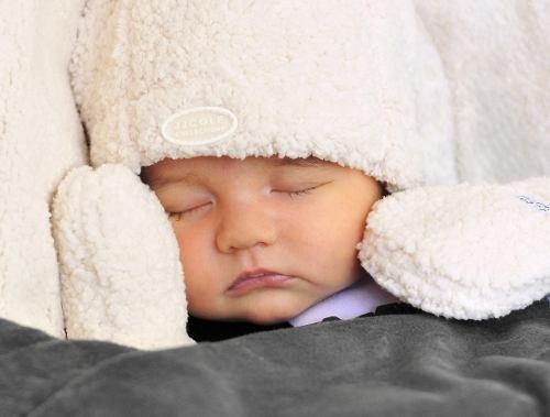 gorro, mitones y zapatos hat set jj cole - bebés y niños