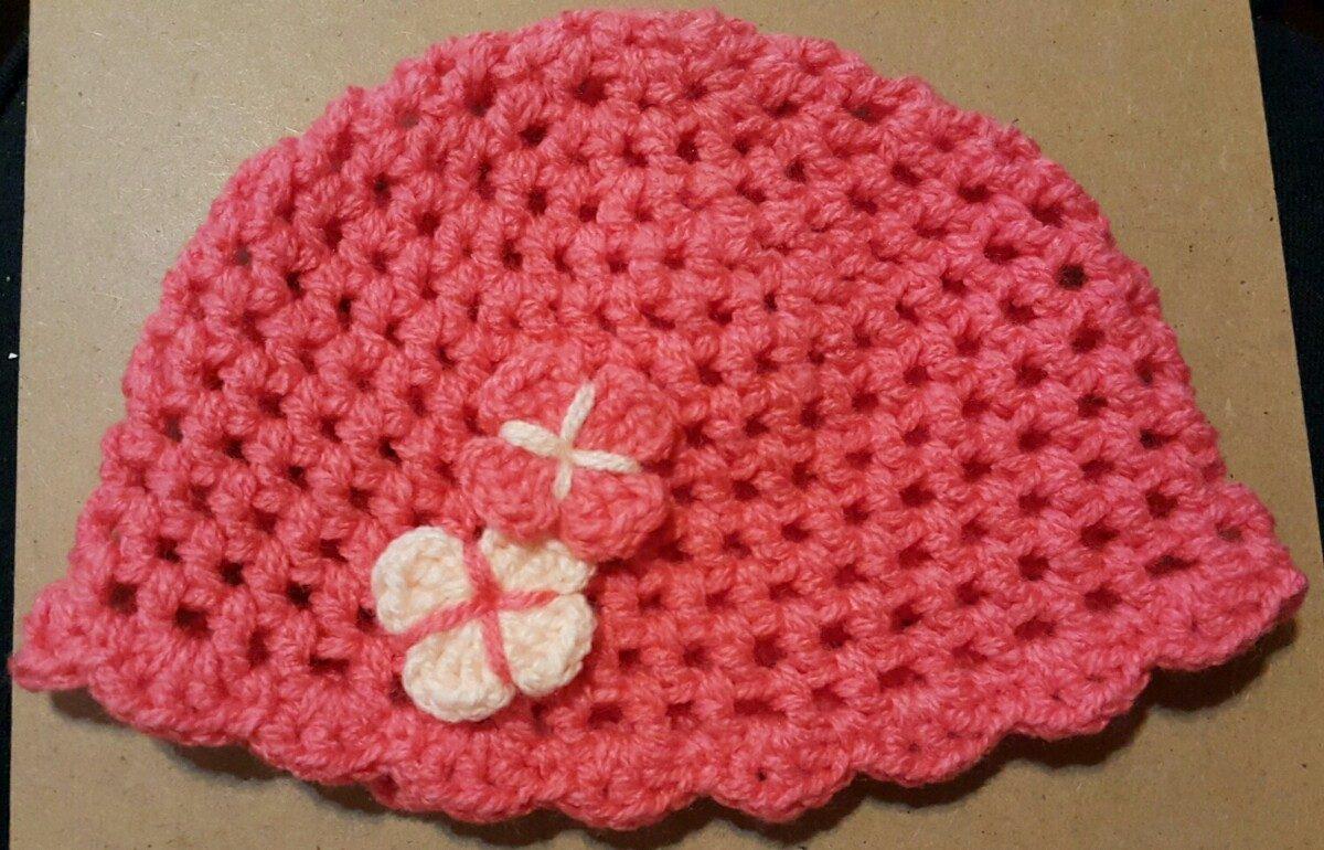 Gorro En Crochet Para Bebé De 6 A 12 Meses. Contorno 45 Cm -   200 ... a188bf44435