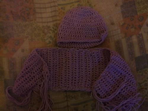 gorro y bufanda para bebé (conjunto)