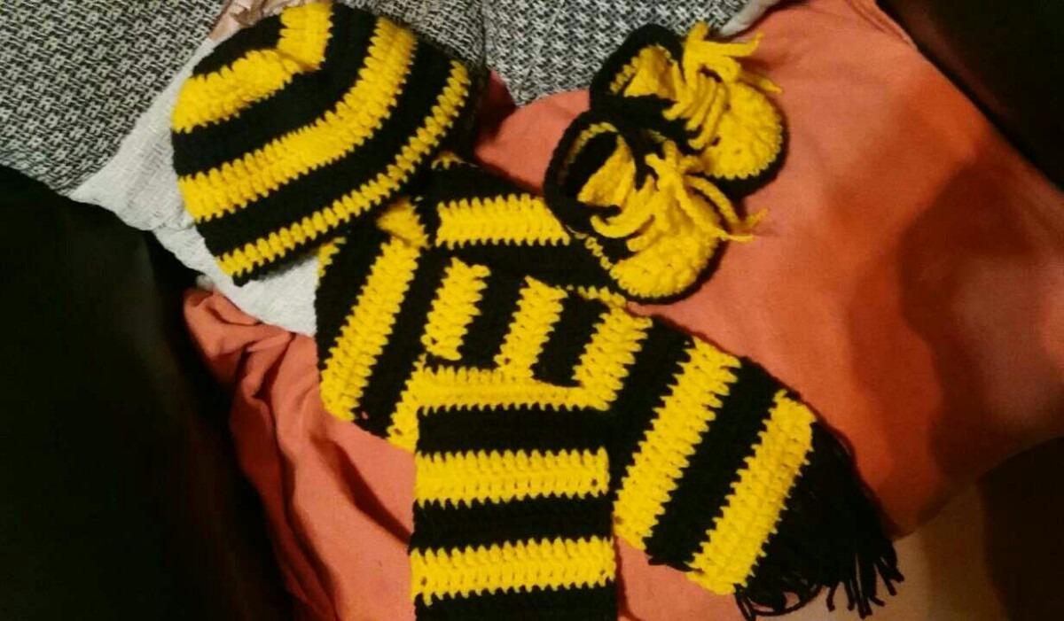 diseño atemporal Tienda online diseño encantador Gorro,bufanda Y Championes En Crochet Para Bebe Peñarol