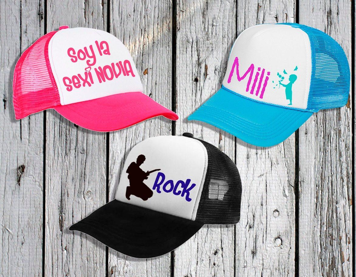Gorros Estilo Trucker Personalizados Banda De Rock b0048d2bf6c