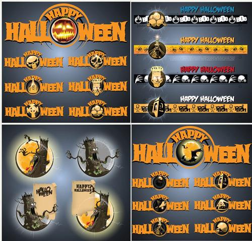 graficos halloween editables - invitaciones /poster/banner
