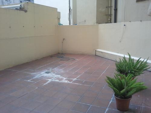 gran apto con vista rambla patio 40 m2  apto banco cochera