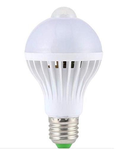 gran oferta lampara led 9w fría con sensor movimiento