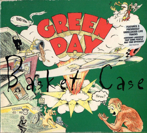 green day basket case single cd 4 tracks digipak uk 1994