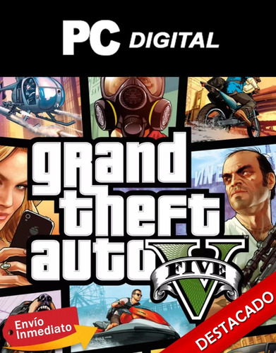 gta 5 / grand theft auto v pc español / offline digital