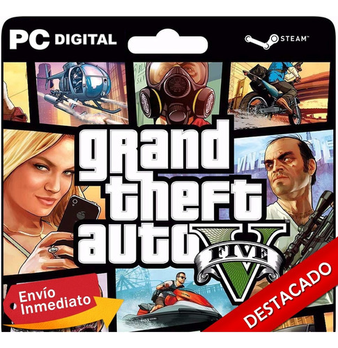gta 5 / grand theft auto v pc + online steam original