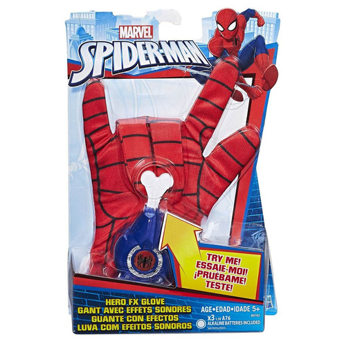 guante spiderman con efecto - original hasbro