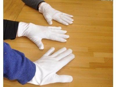 guantes  100% algodon blancos abanderados