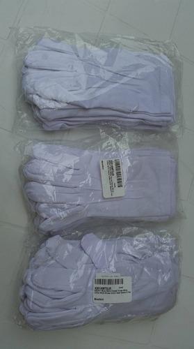 guantes blancos 100% algodon 3 costuras u.s.a