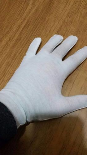 guantes blancos algodon unisex varios talles