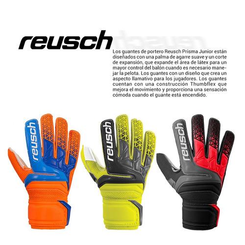 guantes de golero reusch prisma new basic de niño flúo