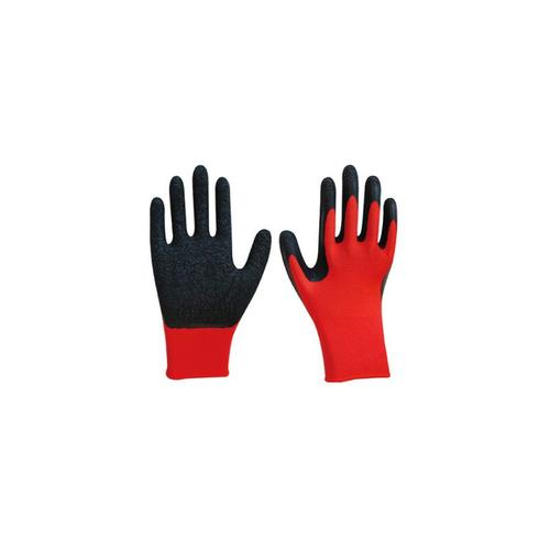 guantes de latex rojo y negro