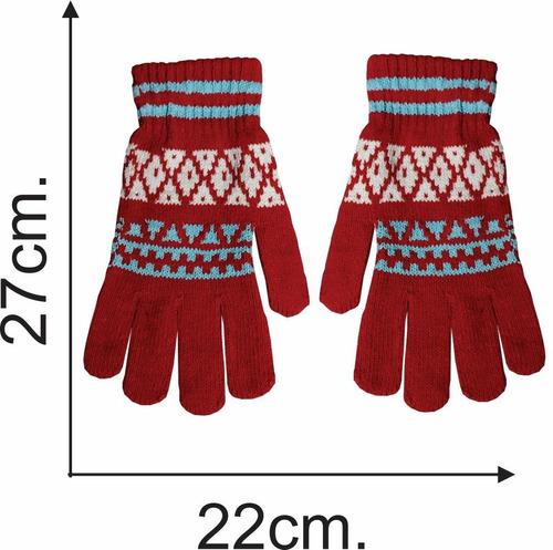 guantes de mujer bariloche 6 colores - el regalón